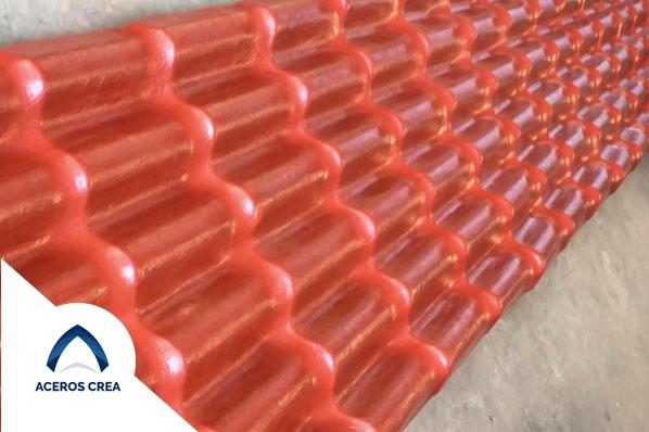 Lámina de plastico estilo teja españona Aceros crea
