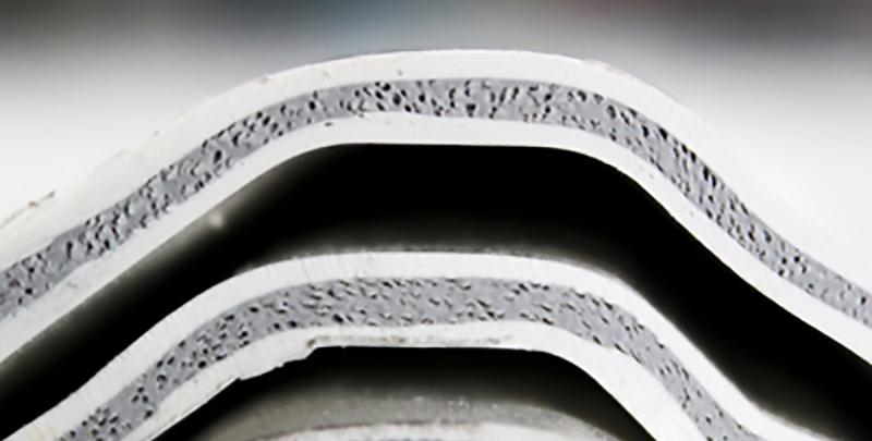 Composición de la lámina tricapa